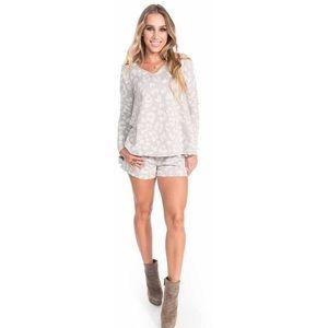 Leopard Grey Shorts